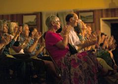 Audience at Eudlo Hall, Sunshine Coast Hinterland